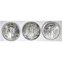 1987, 91 & 92 AMERICAN SILVER EAGLES