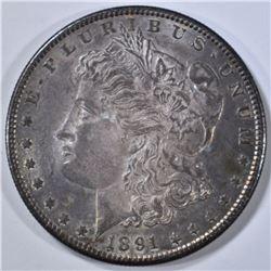 1891-S MORGAN DOLLAR, BU