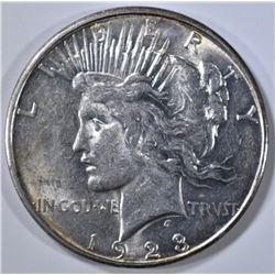 1923-D PEACE DOLLAR, AU/BU