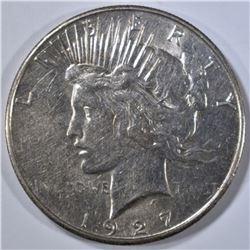 1927-S PEACE DOLLAR, AU