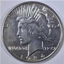 1934 PEACE DOLLAR, AU