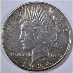 1934-S PEACE DOLLAR, XF