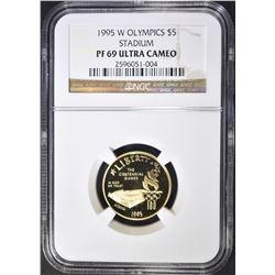 1995-W OLYMPIC STADIUM $5 GOLD NGC PF-69 ULTRA CAM