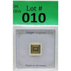 1Gram .9999 Fine Gold Geiger Edelmetalle Bar