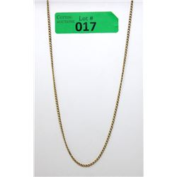 "8.75 Gram 14 KT Gold Ladies 20"" Necklace"