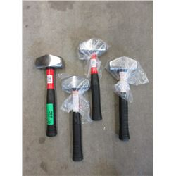 4 New 3 Pound Sledge Hammers