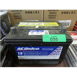 58A AC Delco Battery - 560 CCA
