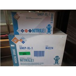 Case of New XL Nitrile Medical Grade Gloves