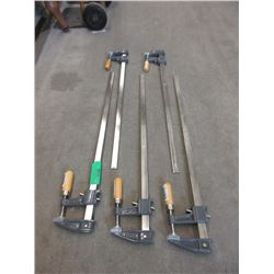 "5 New 24"" Bar Clamps"