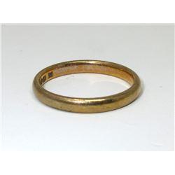 Estate - 9 KT Yellow Gold Band Ring - 2.3 Grams