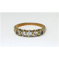 Estate - 10 KT Yellow Gold Cubic Zirconia Ring