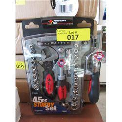 New 45 Piece Stubby Socket Set