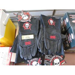 12 Pairs of Black Quality Leather Welding Gloves