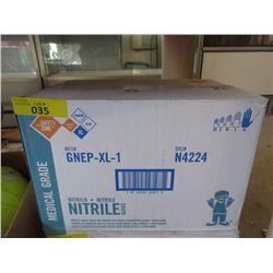 Case of 1000 XL Nitrile Medical Grade Gloves