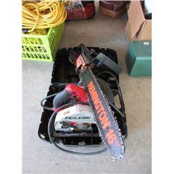 """Remington 16"""" Electric Chain Saw & Skil Saw"""