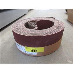 "10 New 60 Grit Sanding Belts-  4"" x 132"""