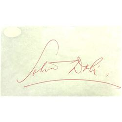 Salvador Dali - Signature  Cut