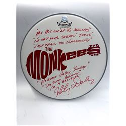 Signed Monkees- White Drumhead w/ Handwritten Lyrics