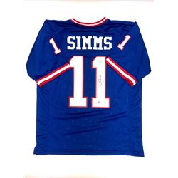Signed Phil Simms - Giants Jersey