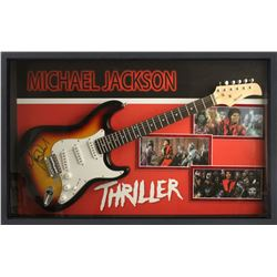 Signed Framed Michael Jackson - Thriller Sunburst Guitar