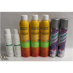 7 BOTTLES OF DRY SHAMPOO INCL. MARC ANTHONY,