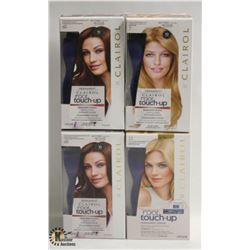 4 BOXES OF ASSORTED COLOR CLAIROL ROOT TOUCH-UP