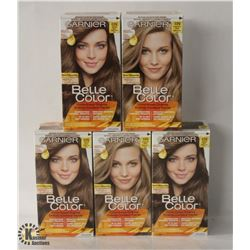 5 BOXES OF ASSORTED COLOR GARNIER COLOR EASE