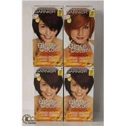 4 BOXES OF ASSORTED COLOR GARNIER COLOR EASE