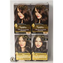 4 BOXES OF ASSORTED COLOR L'ORÉAL PREMIUM HAIR