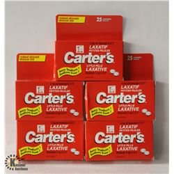 5 BOXES OF CARTER'S LITTLE PILLS LAXATIVE