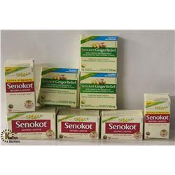 5 BOXES OF SENOKOT NATURAL LAXATIVE & 3 BOXES OF