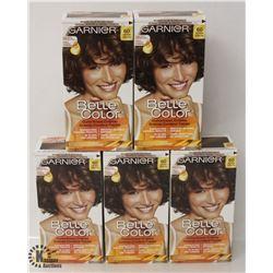 5 BOXES OF GARNIER LIGHT BROWN COLOR EASE CRÈME