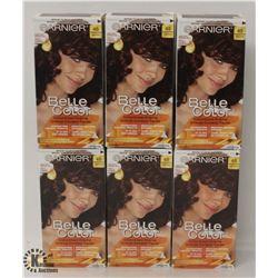 6 BOXES OF GARNIER BELLE COLOR MAHOGANY BROWN