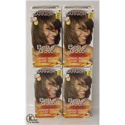 4 BOXES OF GARNIER BELLA COLOR DARK ASH BLONDE