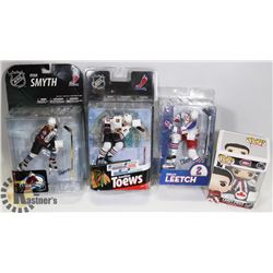 LOT OF HOCKEY ACTION FIGURE COLLECTIBLES.