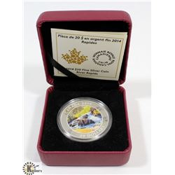2014 ROYAL CANADIAN MINT $20 SILVER COIN RIVER