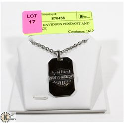 HARLEY DAVIDSON PENDANT AND NECKLACE
