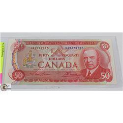 1975 CANADIAN 50 DOLLAR BILL.