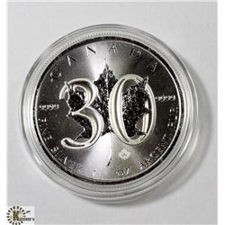 1988-2018 CANADIAN 1 OUNCE .999 FINE SILVER $5