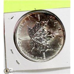 1999 CANADIAN 1 OUNCE .999 FINE SILVER $5 COIN.