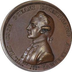 Undated (1776) Captain James Cook. Betts-553. Bronze. Plain Edge. MS-63 BN PCGS.