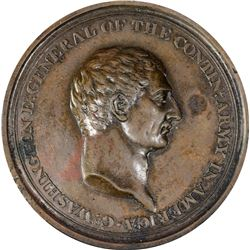 Undated (1778) Washington Voltaire Medal. Baker-78b, Betts-544. Bronze. Plain Edge. EF.