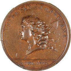 """1776"" (1781) Libertas Americana Medal. Betts-615. Bronze. Plain Edge.  MS-62 BN PCGS."