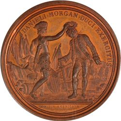 1781 Daniel Morgan at Cowpens. Julian MI-7, Betts-593. Copper. Original. Paris Mint. MS-65 RB NGC on