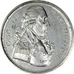 """""""1789"""" (circa 1792) Washington Twigg Medal. Baker-65, Musante GW-38. White Metal. Choice Mint State."""