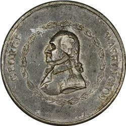 """1799"" (1800) Washington Funeral Medal. Victor Sine Clade. Baker-164, Musante GW-76. White Metal. Un"