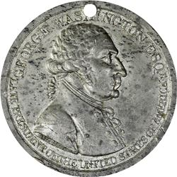 Undated (circa 1800) Washington Westwood Medal. Baker-81b. White Metal. Second Reverse. Holed for Su