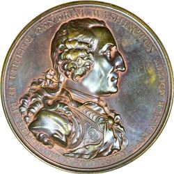 1805 Washington – Eccleston Medal. Cast Bronze. Baker-85, Musante GW-88. Choice AU, Nearly as Struck
