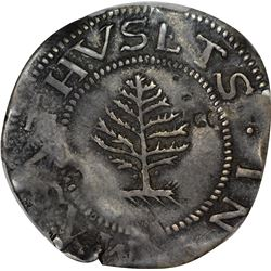 1652 Massachusetts Bay Colony. Pine Tree Shilling. The Small Tree. Pellets. Noe-1, Crosby 12-I, W-69