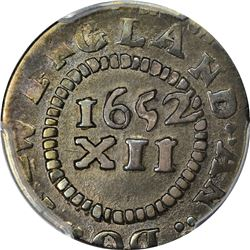 1652 Massachusetts Bay Colony. Pine Tree Shilling. Noe-30, Crosby 13-S, W-935. Small Planchet. Rarit